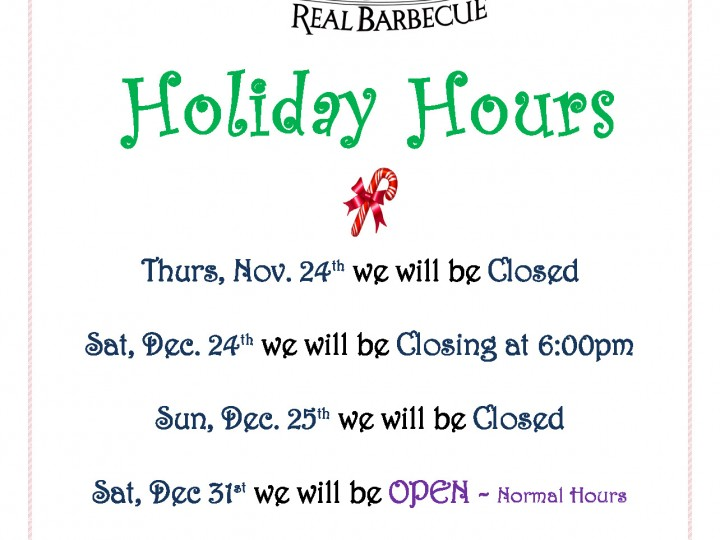 Holiday Hours 2016